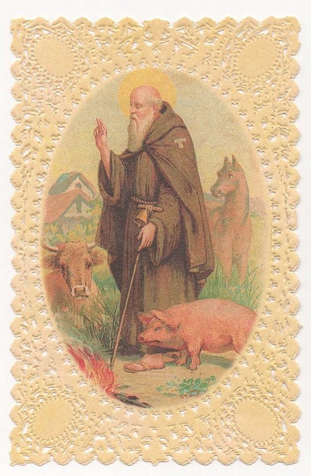 Lorazione e limmagine. SantAntonio Abate nei santini